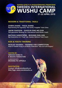 SWEDEN WUSHU CAMP 21-21 MAJ 2018