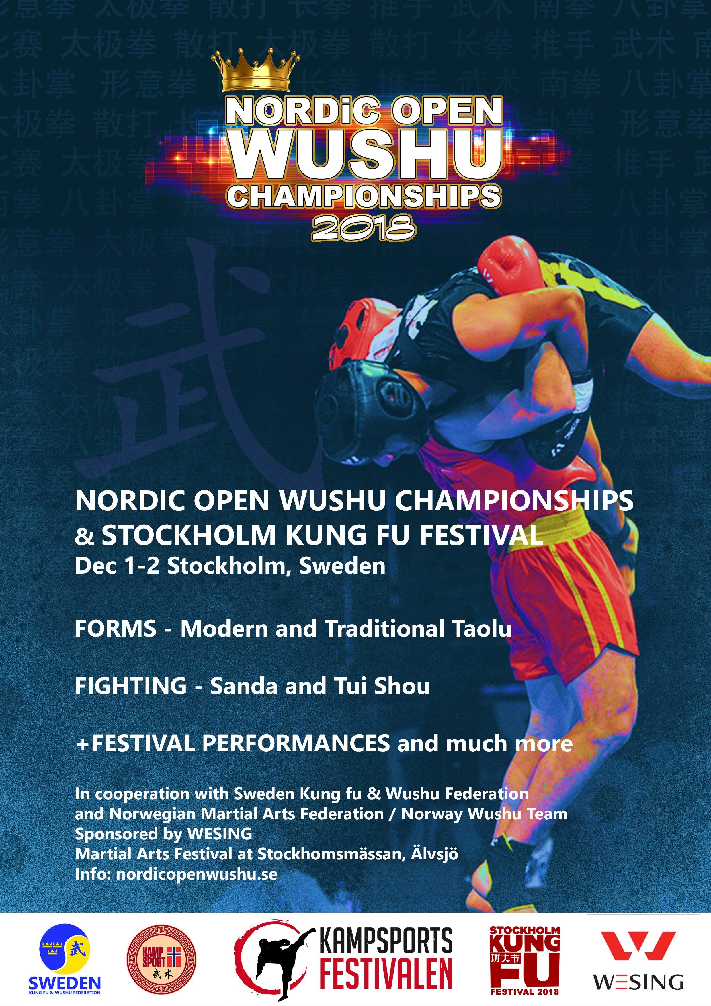 Nordic Open Wushu Championships 2018